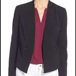 Halogen Zip Pocket Blazer in Navy Blue  (XS-P)